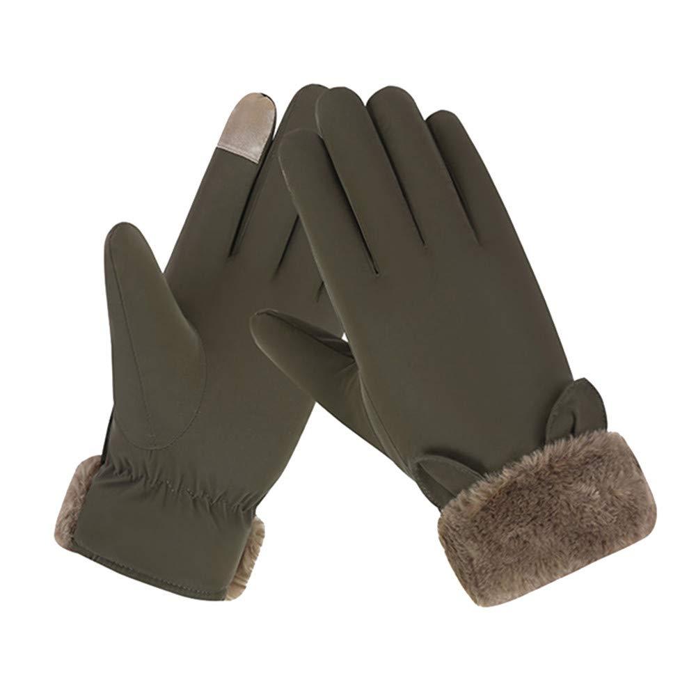 XGao Women Fashion Fluffy Winter Warm Full Finger Hand Gloves Ski Wind Protect Hands
