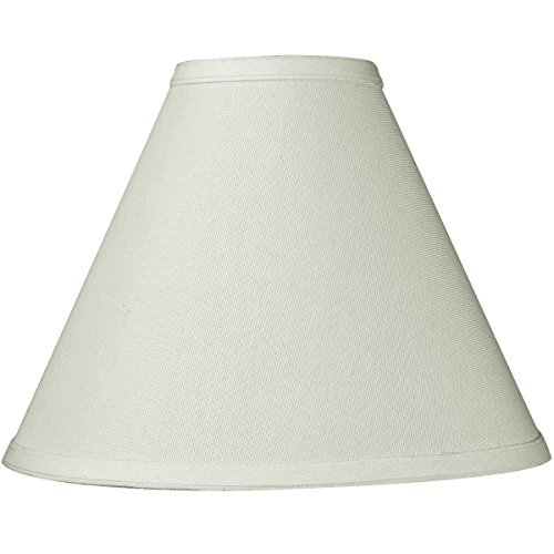 4x11x9 Light Oatmeal Linen Coolie Lampshade with Brass Spider Fitter by Home Concept - Perfect for Small Table Lamps, Desk Lamps, and Accent Lights -Small, Off-White ()