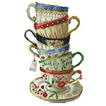 RUIMI Stamped Cross Stitch Kit 11CT Colorful Cups 34x54cm