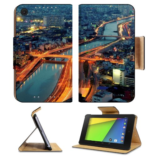 Ocean Landscapes Rocky Shore Sunset Asus Google Nexus 7 FHD II 2nd Generation Flip Case Stand Magnetic Cover Open Ports Customized Made to Order Support Ready Premium Deluxe Pu Leather 8 1/4 Inch (210mm) X 5 1/2 Inch (120mm) X 11/16 Inch (17mm) Luxlady Nexus 7 Professional Nexus7 Cases Nexus_7 Accessories Graphic Background Covers Designed Model Folio Sleeve HD Template Designed Wallpaper Photo Jacket Wifi Luxury Protector