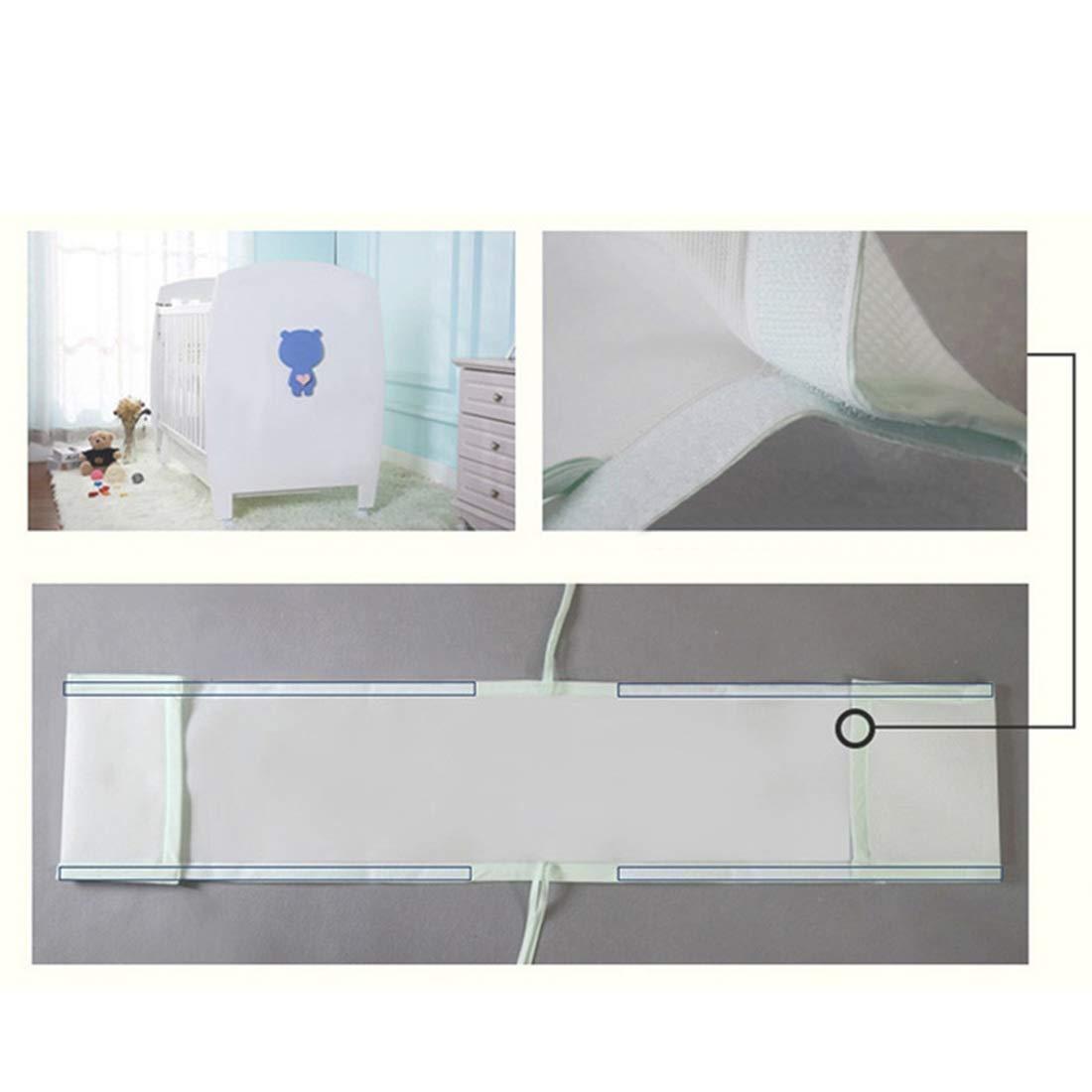 Ggoddess Baby sicher Krippe Sto/ßstange Pads f/ür Standardkrippen Blauer Rand Kind Atmungsaktives 3D Geh/äuse Atmungsaktives Bettgel/änder