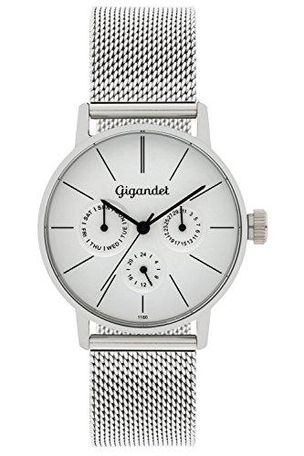 Gigandet Women's Quartz Watch Minimalism Multifunction Analog Mesh Bracelet Silver G38-005