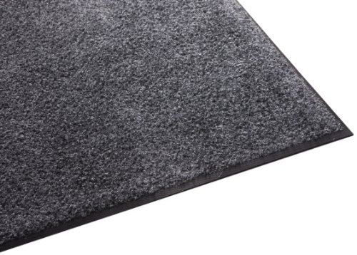 4x5 Mat - Guardian Platinum Series Indoor Wiper Floor Mat, Rubber with Nylon Carpet, 4'x5', Grey