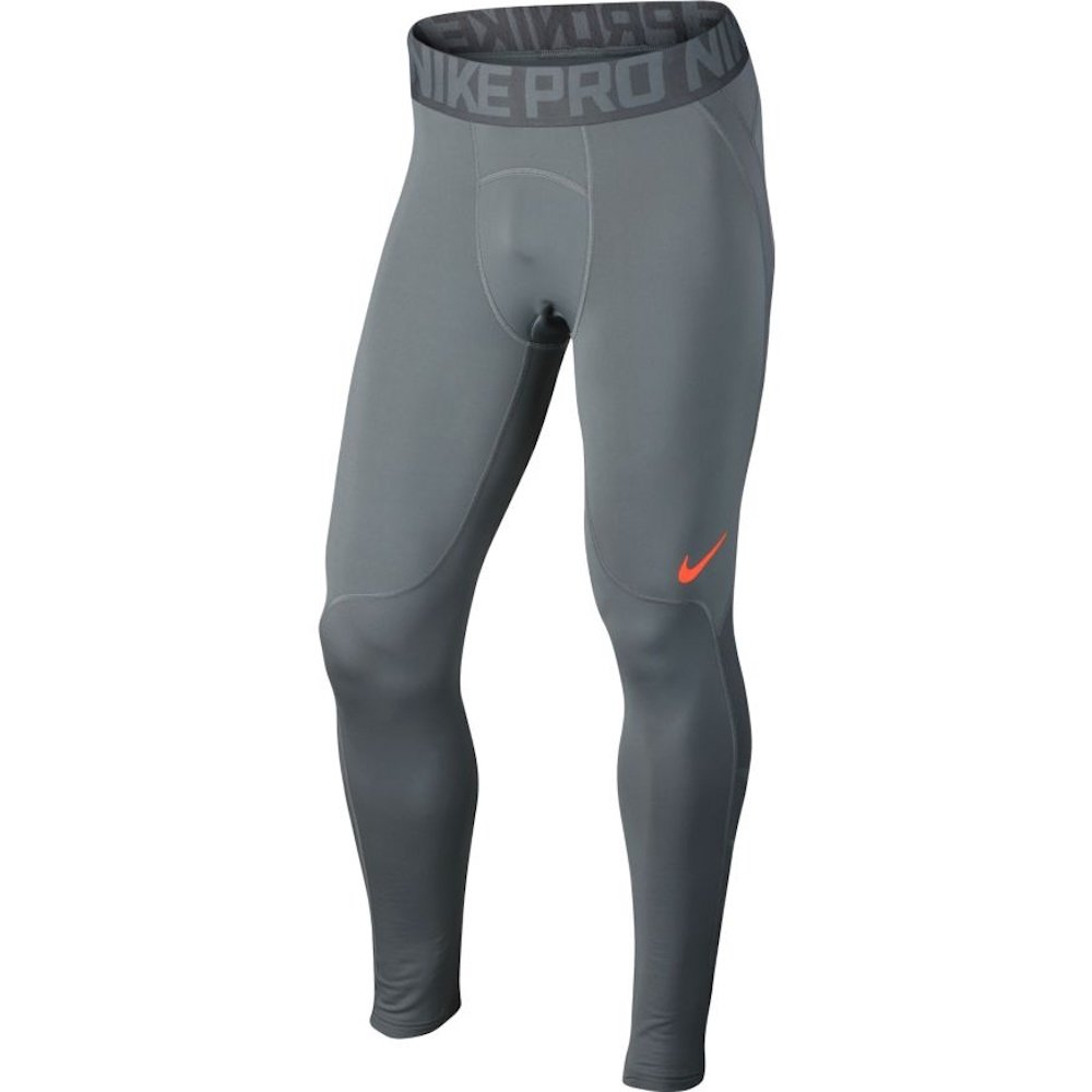 Nike Training Pro Hyperwarm Tights (Cool Grey/Hyper Crimson/Hyper Crimson, M) by Nike (Image #1)