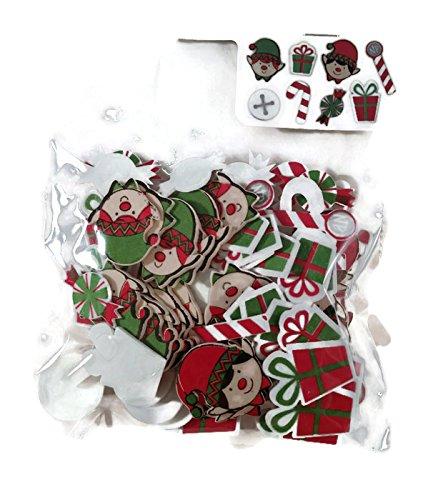 Foam Dimensional Stickers Art - Christmas Elf Foam Dimensional Stickers - 96 Pieces