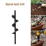 Thethan Garden Auger Spiral Drill Bit for Planting Bedding Bulbs Seedlings