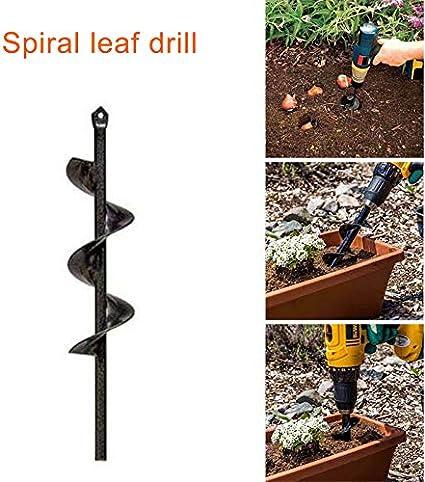 Teekit Broca Espiral para Taladro de jard/ín para la siembra de bulbos de Cama Pl/ántulas,Dia-4cm,L-22cm