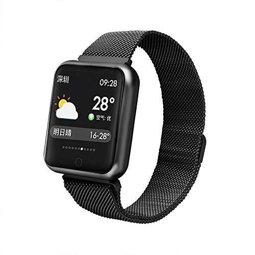 TechCode Activity Tracker Phones, IP68 Waterproof Smart Watch Colour Screen with Heart Rate Monitor Activity Tracker Bracelet Sport Wristband Bluetooth Pedometer Watch for Men Women Boys Girls(Black) by TechCode