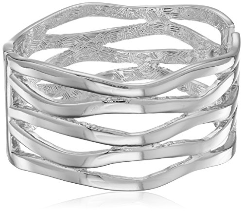 t-tahari-silver-wave-bangle-cuff-bracelet