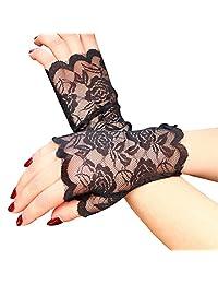 ULTNICE UV Protection Fingerless Gloves Half Hand Short Gloves Sun Block for Driving