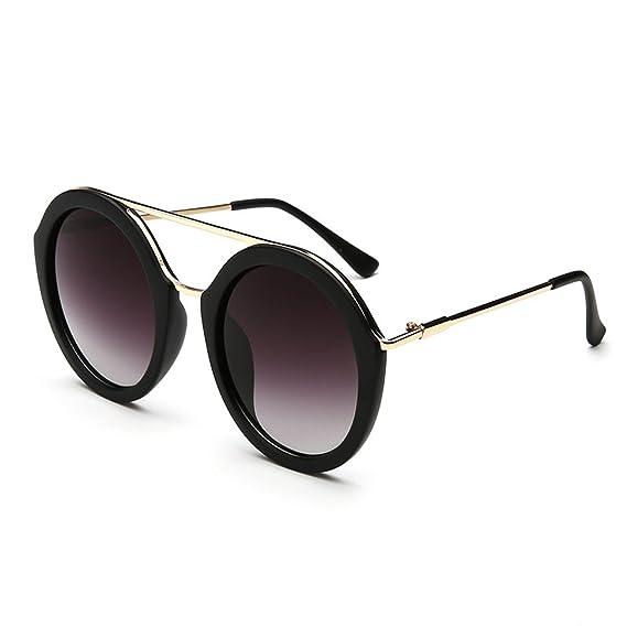 WKAIJC Retro Farbfilm Runde Dose Einfach Stilvoll Wild Komfort UV Paar Modelle Sonnenbrillen,C