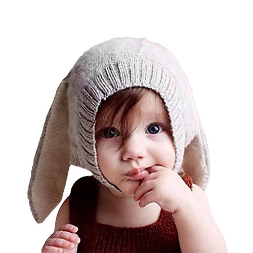 Multifit Toddler Baby Rabbit Ear Winter Beanie Hat Infant Photography Prop Cap(Gray) by Multifit