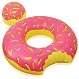 """MDRN Party 48"""" Donut Pool Float with Doughnut Hole Beach Ball - Giant Inflatable Pool Lounger offers"""