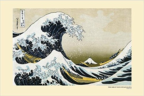 Buyartforless The Great Wave Off Kanagawa by Katsushika Hokusai 36x24 Art Print Poster Japanese Artist Famous Painting