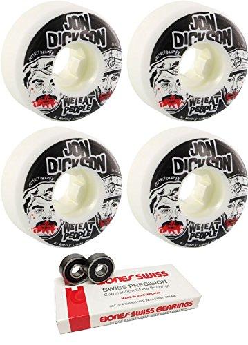 摂動不確実隙間OJ Wheels 52 mm We Eat PeopleスケートボードWheels with Bones Bearings – 8 mm Bones Swiss Skateboard Bearings – 2アイテムのバンドル