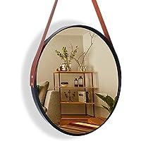 Espelho Redondo Alça Descorativo Adnet Pendurar Parede 60cm