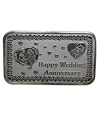 Buy Kataria Jewellers Wedding Anniversary Gift 20 Grams Silver Coin