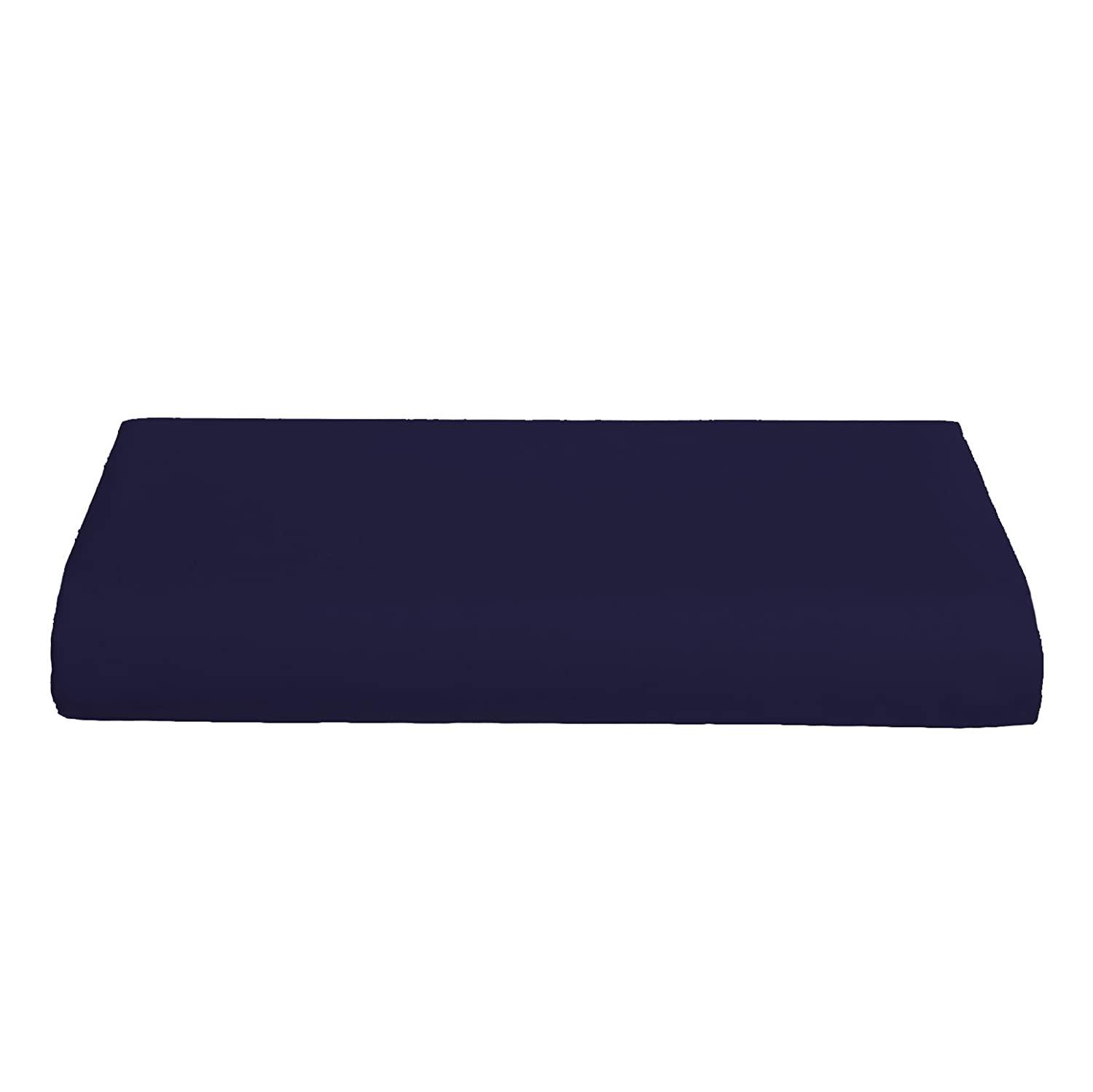 Crib & Toddler Poly/Cotton Sheet - Color: Navy - Flat by Baby Doll   B000IG4IV8