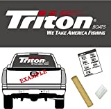 Triton Boats Logo Decal vinyl sticker pictorial