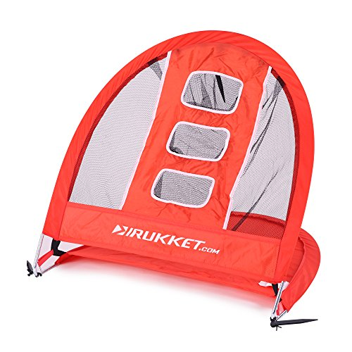 Rukket 2 in 1 Golf Bundle | Chipping Net & Range Marker Target | Outdoor / Indoor Pop Up Golfing Accessories and Backyard Practice Swing Game (Golfing Gifts For Men)