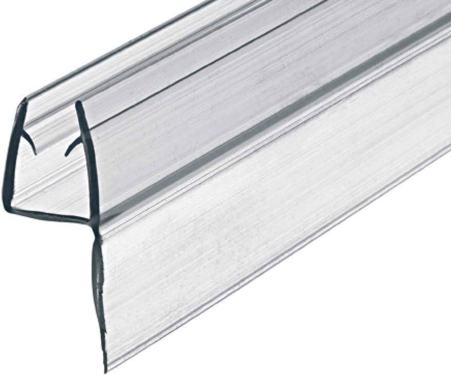 Gedotec junta de puerta vidrio junta pared de ducha para cabinas de ducha | ducha longitud 2000 mm | PVC transparente | vidrio 8-10 mm de grosor | sellado de 2 metros - 1 pieza