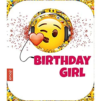 Emoticon Emote Emoji Birthday Girl Birthday Card Amazoncouk