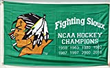 Cheap DIDIGO Fighting Sioux 8 Time NCAA Hockey Champions Flag Banner 3×5 Feet Man Cave