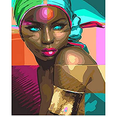 Jigsaw Puzzle 1000 Pieces Adult Puzzle Wooden Puzzle Classic 3D Puzzle DIY Decor African Woman DIY Modern Art Home Decor 75X50Cm: Toys & Games
