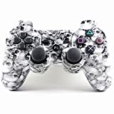 PowerRider New Style Bluetooth Wireless gamepad for PS3 Dual shock PS3 Game Controller Gamepad Joypad for Sony Playstation 3(Skull)