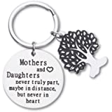 Mothers Day Gifts Keychain For Mom Mothers And Daughters Never Truly Part Mom From Daughter Gifts For Women Birthday…