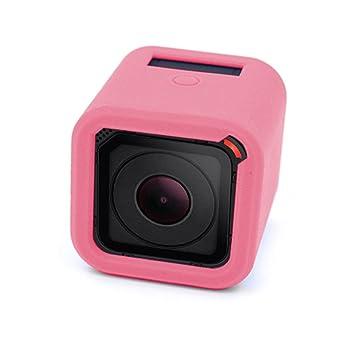 Funda de Silicona Rosa para Cámaras GoPro Hero 4/5 Session ...