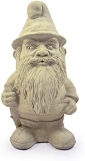 """product image for Modern Artisans Woodland Gnome Cast Stone Garden Statue, 12"""", American Made"""