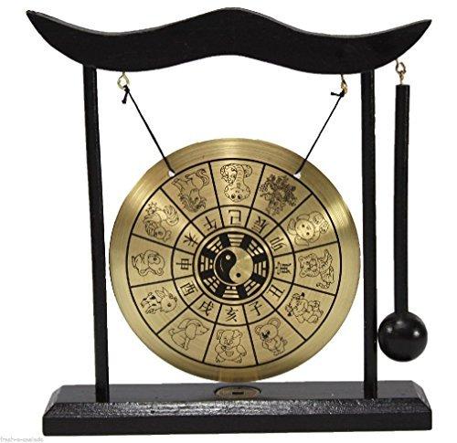 (Zen Table Gong 12 Chinese Zodiac Feng Shui Meditation Desk Bell Home Decor Gift )