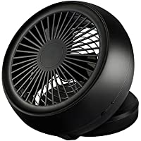Winkeyes Portable 6-Inch USB Desk Fan Adjustable Mini Table Desktop Cooling Fan Powered By USB Charger or Battery(Not Included) for Home/Office (Black)