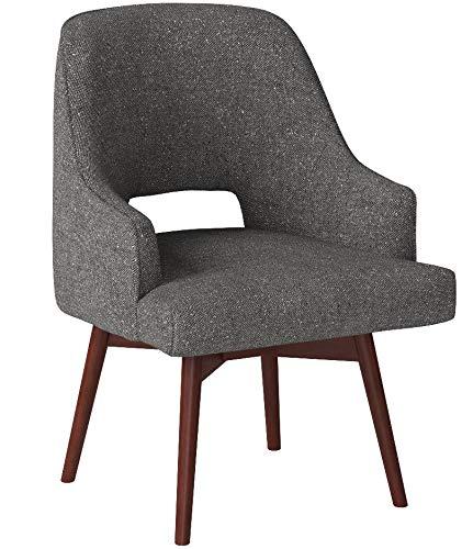 Rivet Mid-Century Open Back Swivel Chair, 24″W, Marble - 7
