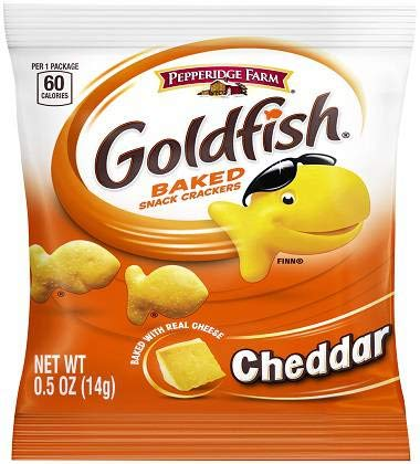 (Pepperidge Farms Cheddar Goldfish - 0.5 oz. single serve pouch, 100 per case)