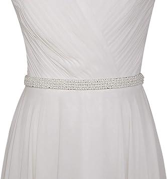 Azaleas Womens Ivory Flower Pearl Wedding Belt Sashes Bridal Sash Belt for Wedding