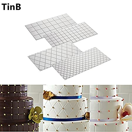 Vintage Wedding Decorations, Grid Transparent Texture Mat Cake