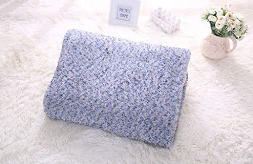 (WSI Blankets, Woollen Blanket Baby Double Thickened Flannel Short Plush Blanket Warm Blanket Autumn and Spring Sofa Travel 130160cm / Blue)