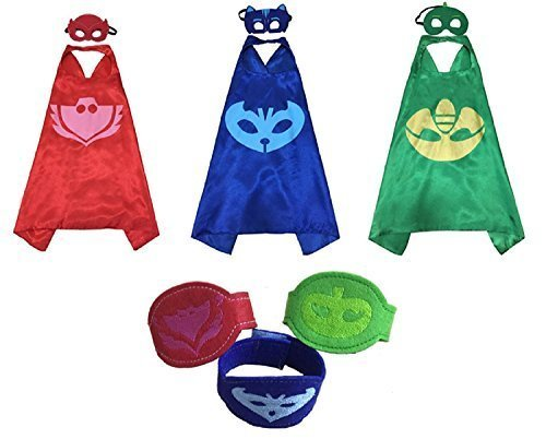 Fun And Easy Halloween Costumes (PJ Masks Costumes For Kids Catboy Owlette Gekko Mask Cape Bracelet)
