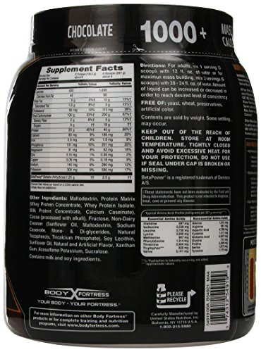 Body Fortress New Super Advancec Mass Gainer, Chocolate, 2.25 Pound, 36 Ounce (Pack of 2)