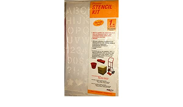 Amazon.com: Stencil Kit 1 Inch Plastic Sheet Clear Transparent Helvetica by Defletco