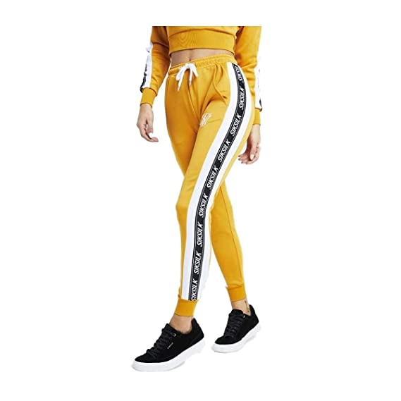 Pantalones Siksilk - 90Žs Panel Poly Joggers Amarillo/Blanco/Negro ...