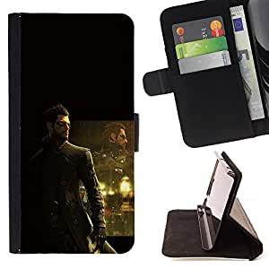 KingStore / Leather Etui en cuir / Samsung Galaxy S4 Mini i9190 / Deusex Game
