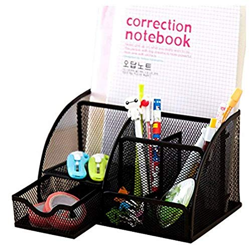 Nrpfell 1pcs Office Stationery Multi-Function Stationery Pen Holder Grid Storage Box by Nrpfell (Image #4)