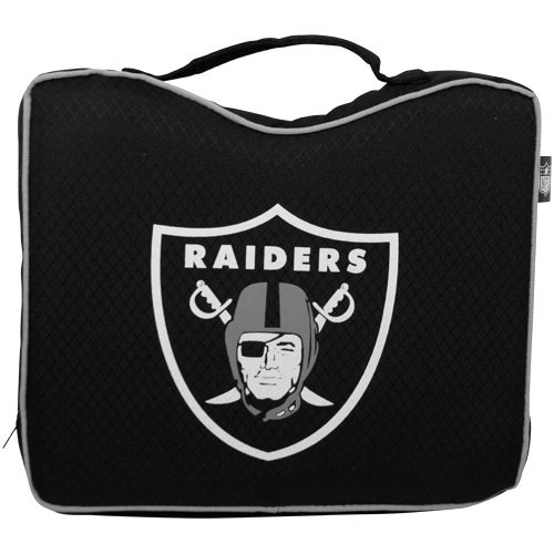 NFL Lightweight Stadium Bleacher Seat Cushion with Carrying Strap, Oakland Raiders