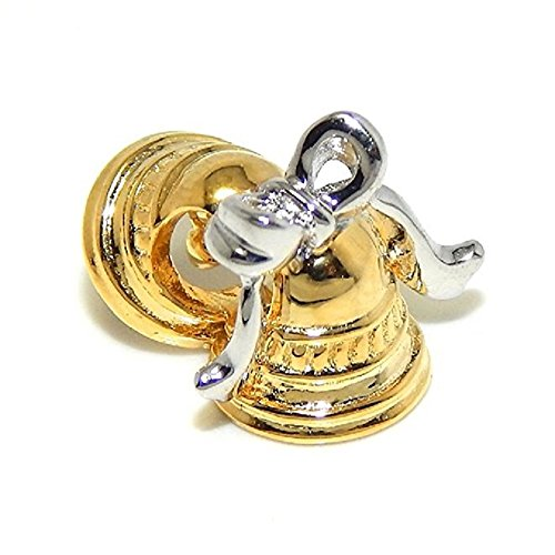 Pro Jewelry 925 Solid Sterling Silver Gold Tone Bells with Bow Charm Bead (Bow Ring Pandora)
