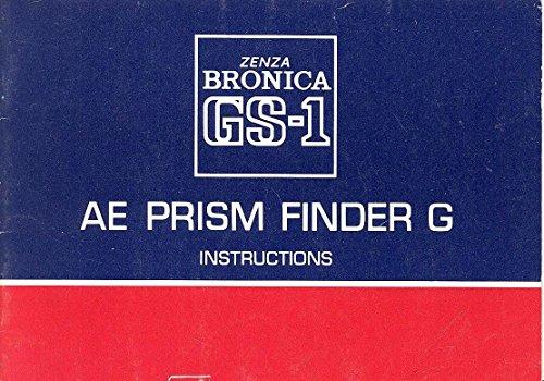 Bronica GS-1 AE Prism Finder G Original Instruction Manual (Bronica Prism Finder)