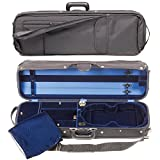 Bobelock Hill Style 1017 Semi-French Fitted Black/Blue 4/4 Violin Case