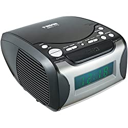 Naxa Digital Alarm Clock with Digital Tuning AM/FM Radio & CD Player Consumer electronic